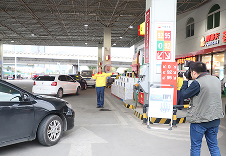 中国石油形象宣传片拍摄现场